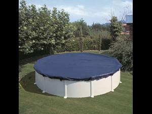 Cipr451 couvertures de hiver piscine paroi acier for Liner piscine transparent