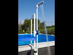 Dpe10 duche para piscina sob solo chuveiros acess rios for Liner piscine transparent