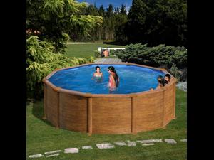 Redonda 460 x 120 cm kitpr453w altura 120 cm de for Liner piscine transparent