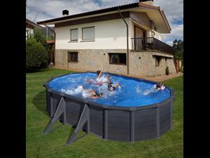 Serie granada piscina in acciaio imitazione intereccio for Piscina 02 granada