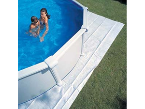 Mpr450 550 x 500 cm bottom protective blanket covers for Liner piscine transparent
