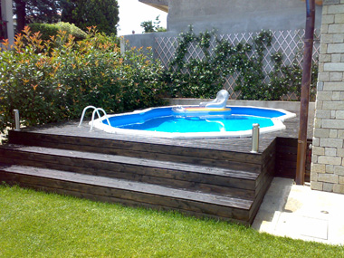 Piscinas para enterrar baratas piscina elevada piscinas - Piscinas de madera baratas ...